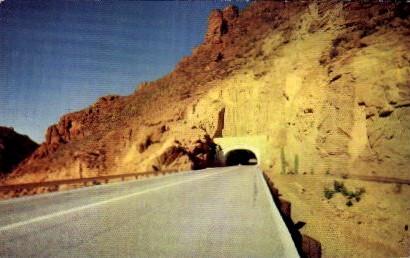 Queen Creek Tunnel - Surperior, Arizona AZ Postcard