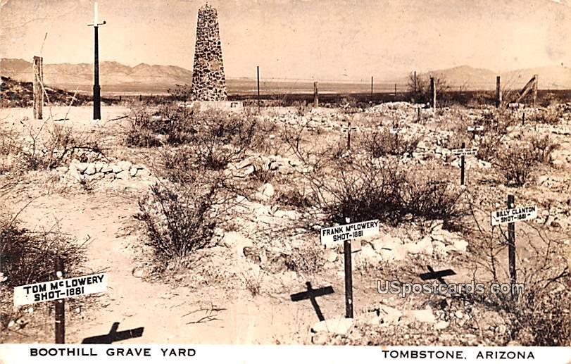 Boothill Grave Yard - Tombstone, Arizona AZ Postcard