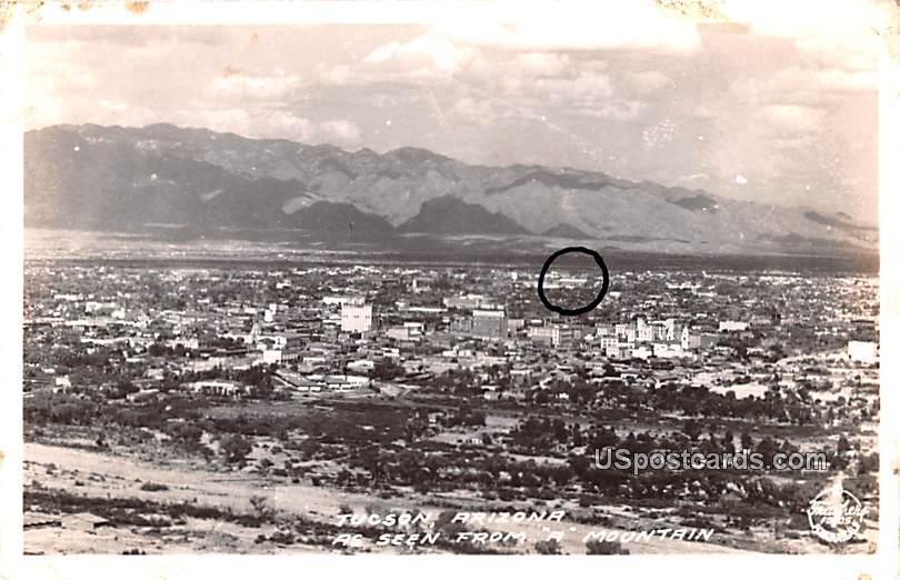 Seen from A Mountain - Tucson, Arizona AZ Postcard
