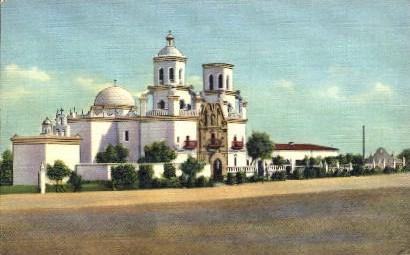 San Xavier Mission - Tucson, Arizona AZ Postcard