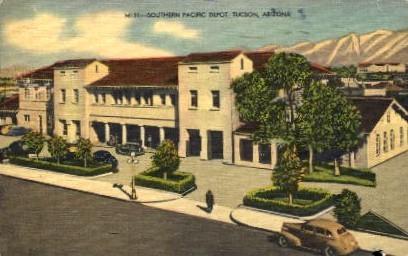 Southern Pacific Depot - Tucson, Arizona AZ Postcard