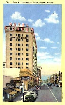 Stone Avenue - Tucson, Arizona AZ Postcard