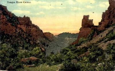 Tongue River Canyon - Arizona AZ Postcard