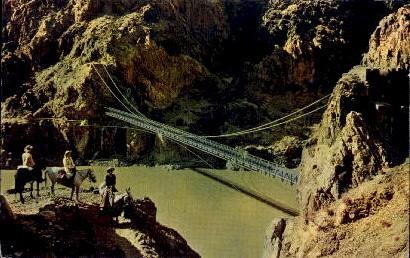 Kaibab Suspension Bridge - The Grand Canyon, Arizona AZ Postcard