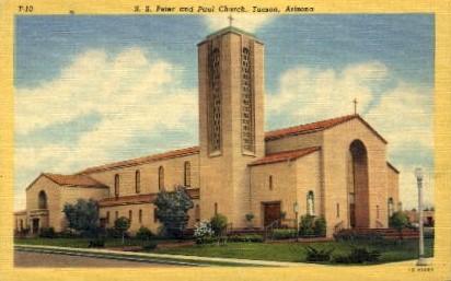 S.S. Peter and Paul Church - Tucson, Arizona AZ Postcard