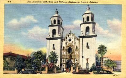 San Augustin Cathedrale - Tucson, Arizona AZ Postcard