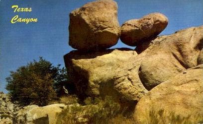 Texas Canyon - Arizona AZ Postcard