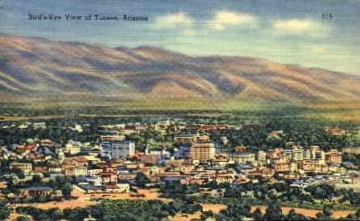 Bird's Eye View - Tucson, Arizona AZ Postcard