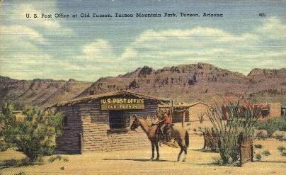 Post Office in Old Tuscon - Tucson, Arizona AZ Postcard
