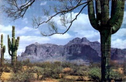 Superstition Mountain - Tucson, Arizona AZ Postcard
