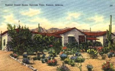 Desert Home  - Tucson, Arizona AZ Postcard