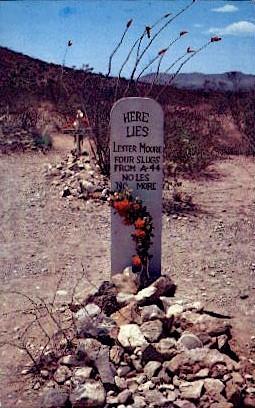 Lester Moore Grave - Tombstone, Arizona AZ Postcard