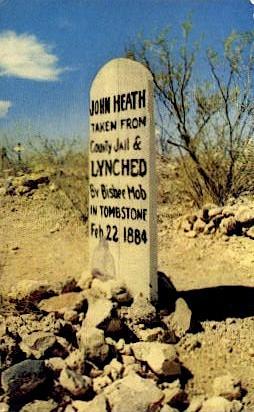 John Heath's Grave - Tombstone, Arizona AZ Postcard