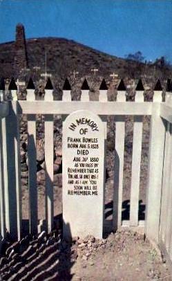 Grave of Frank Bowles - Tombstone, Arizona AZ Postcard