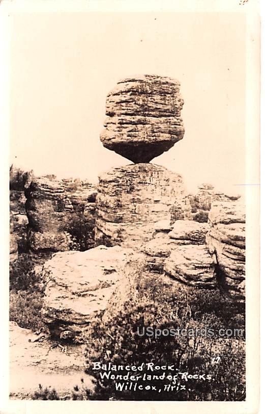 Balanced Rock - Willcox, Arizona AZ Postcard