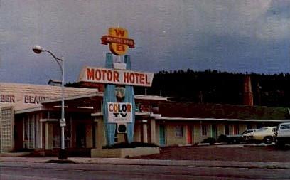 Whiting Motels - Winslow, Arizona AZ Postcard