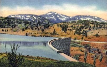 Bill Williams Mountain and Dam - Arizona AZ Postcard