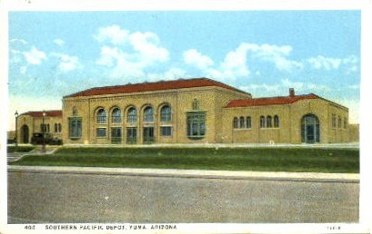 Southern Pacific Depot - Yuma, Arizona AZ Postcard