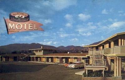 Rose Bowl Motel - Altadena, California CA Postcard