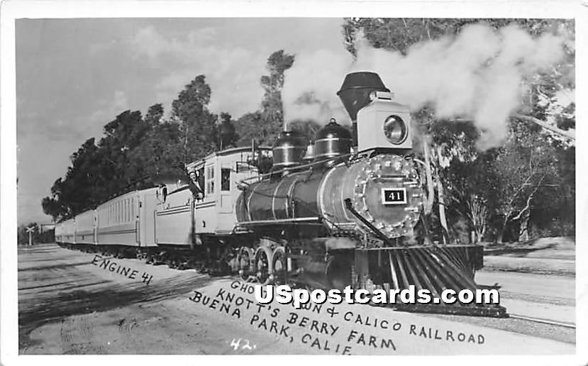 Calico Railroad, Knott's Berry Farm - Buena Park, California CA Postcard