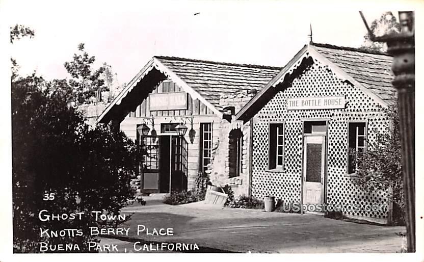 Ghost Town - Buena Park, California CA Postcard