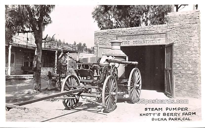 Steam Pumper - Buena Park, California CA Postcard