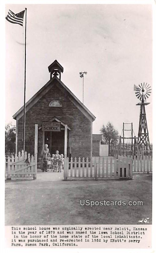 School House - Buena Park, California CA Postcard
