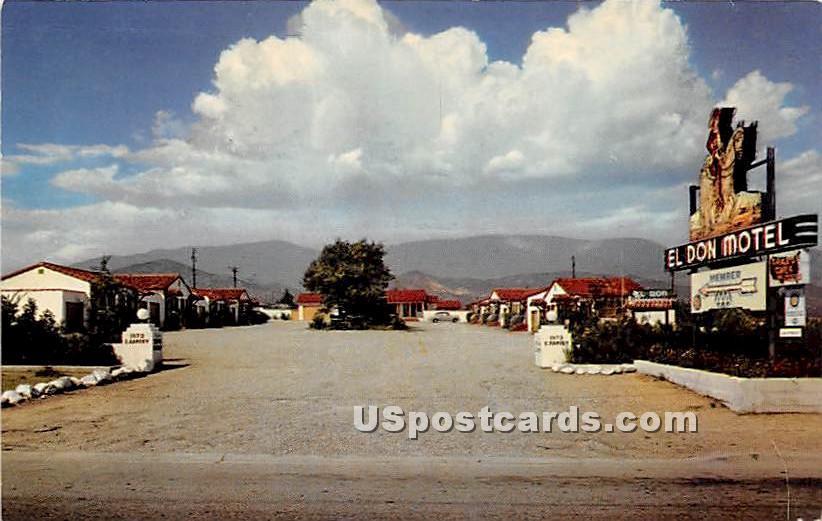 El Don Motel - Banning, California CA Postcard