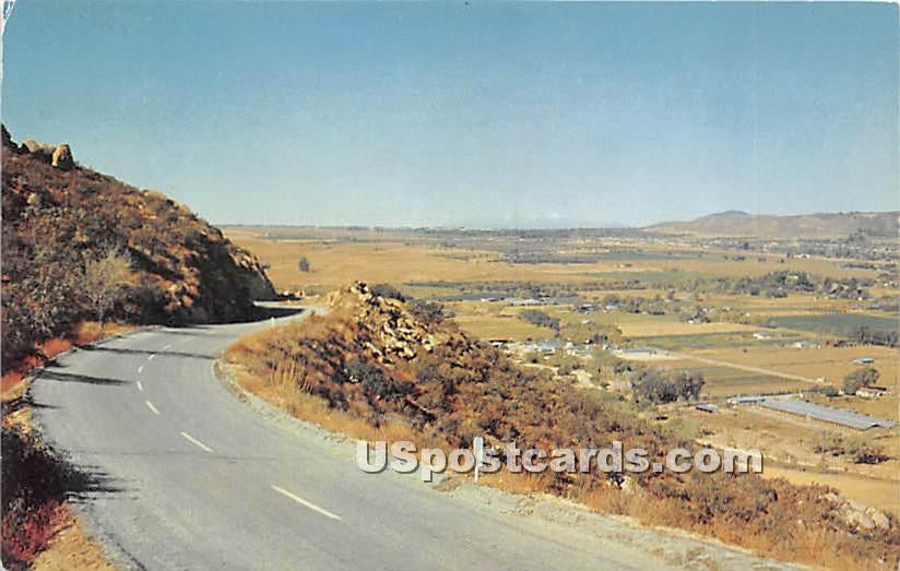 Banning to Idyllwild Highway - California CA Postcard