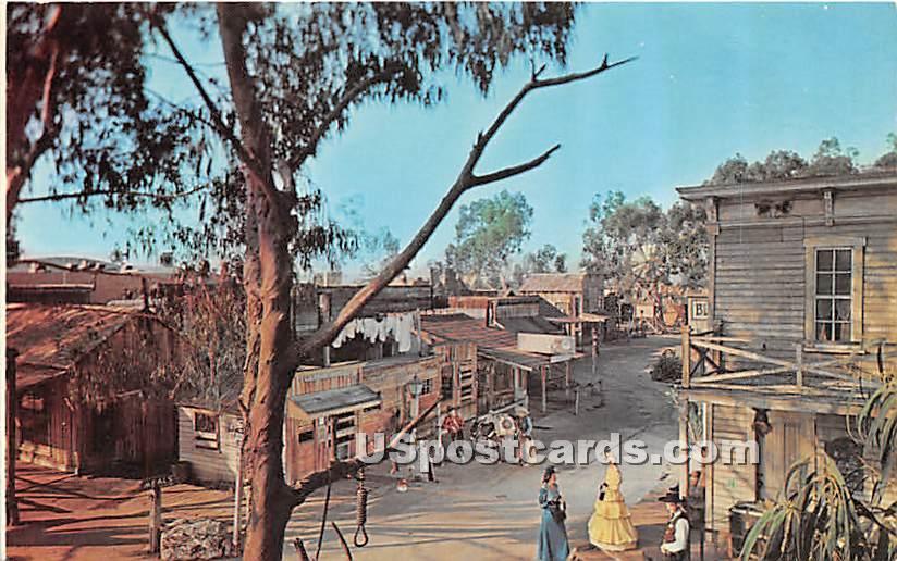 Main Street, Knott's Berry Farm & Ghost Town - Buena Park, California CA Postcard
