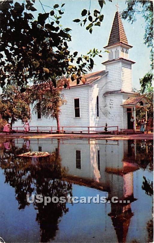 Church of Reflections, Knott's Berry Farm - Buena Park, California CA Postcard