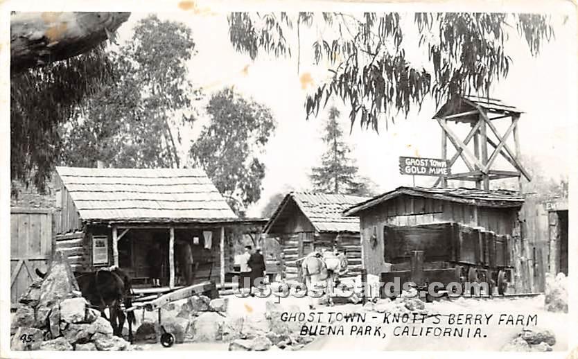 Ghost Town, Knott's Berry Farm - Buena Park, California CA Postcard