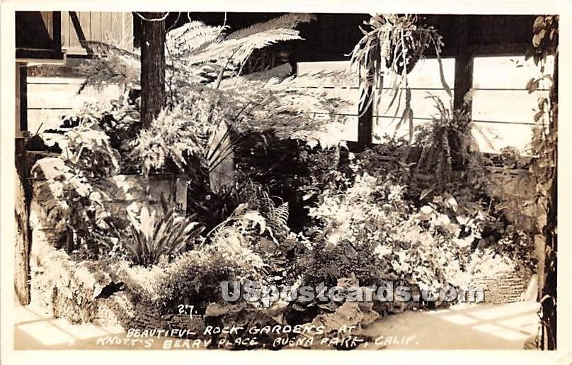 Rock Gardens, Knott's Berry Place - Buena Park, California CA Postcard