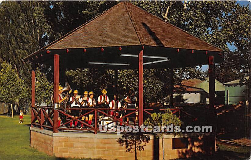 Bandstand in the Park - Bishop, California CA Postcard