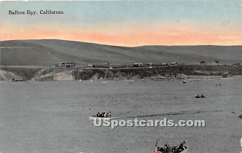 Balboa Bay, California CA Postcard