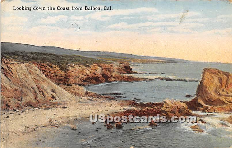 Coast - Balboa, California CA Postcard
