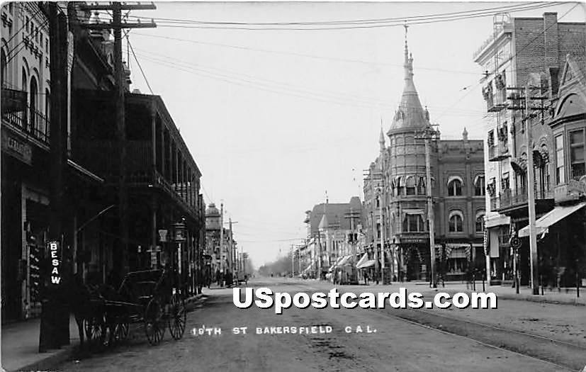 19th Street - Bakersfield, California CA Postcard