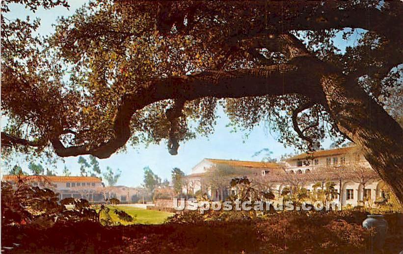 Balch Hall, San Gabriel Mountains - Claremont, California CA Postcard