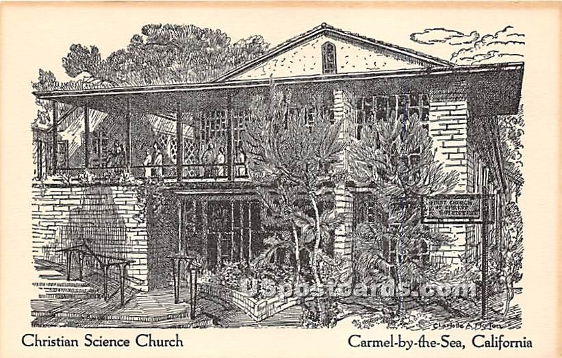 Christian Science Church - Carmel by the Sea, California CA Postcard