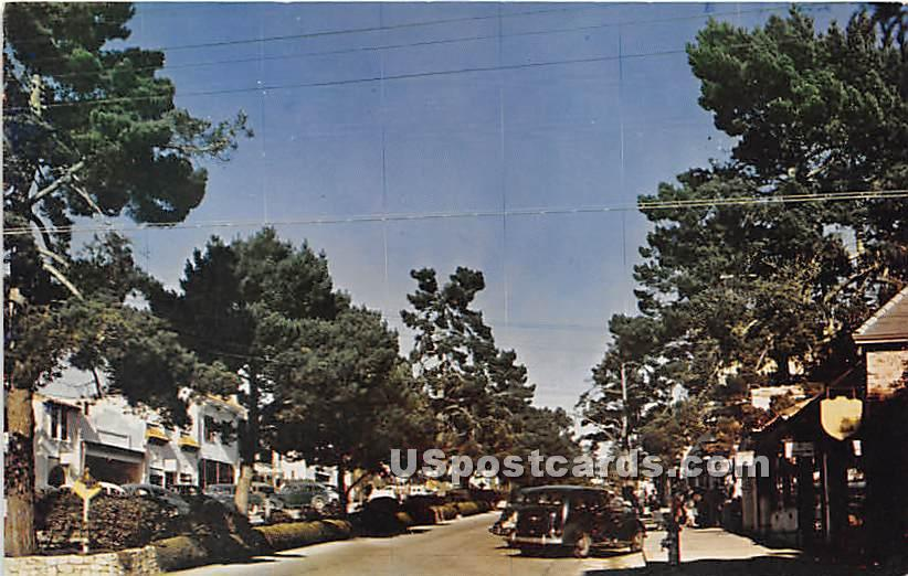 Street Scene - Carmel by the Sea, California CA Postcard