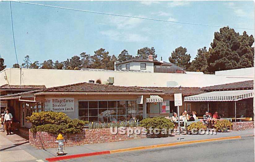 Village Corner - Carmel by the Sea, California CA Postcard