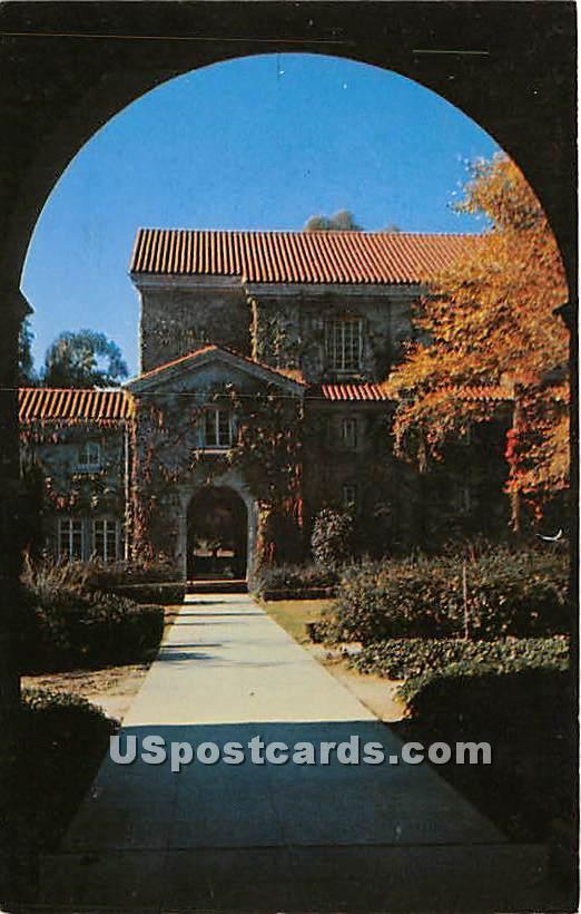 Bridges Hall - Claremont, California CA Postcard
