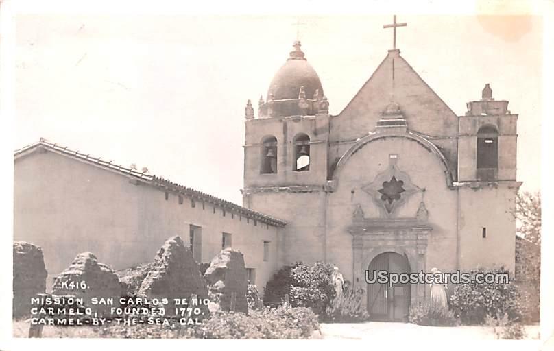 Missions an Carlos De Rio - Carmel by the Sea, California CA Postcard