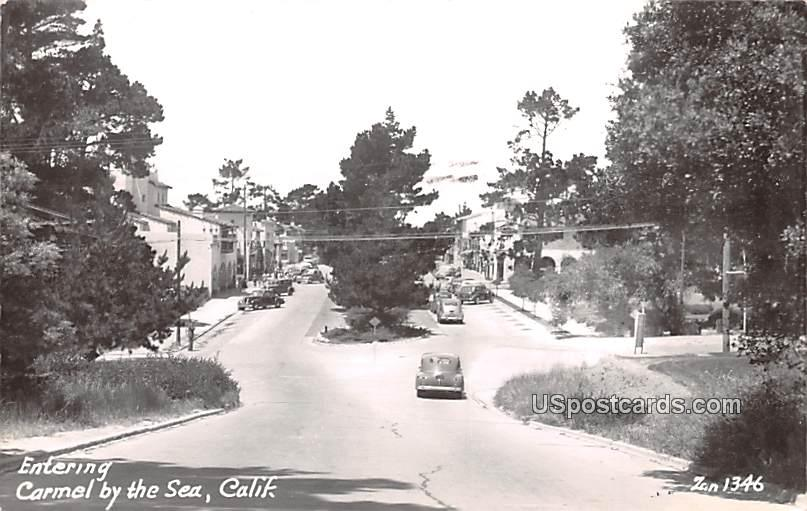 Entering - Carmel by the Sea, California CA Postcard