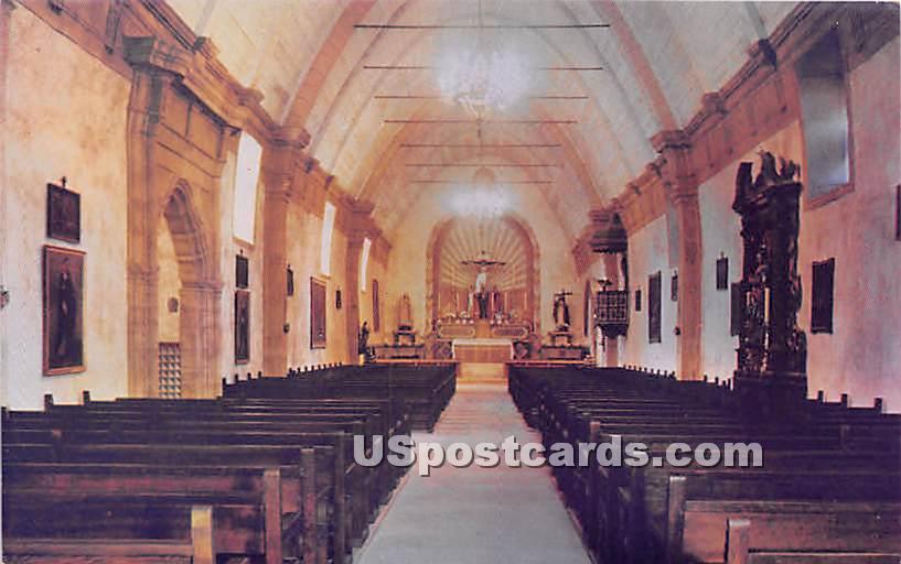 Interior Carmel Mission in Carmel
