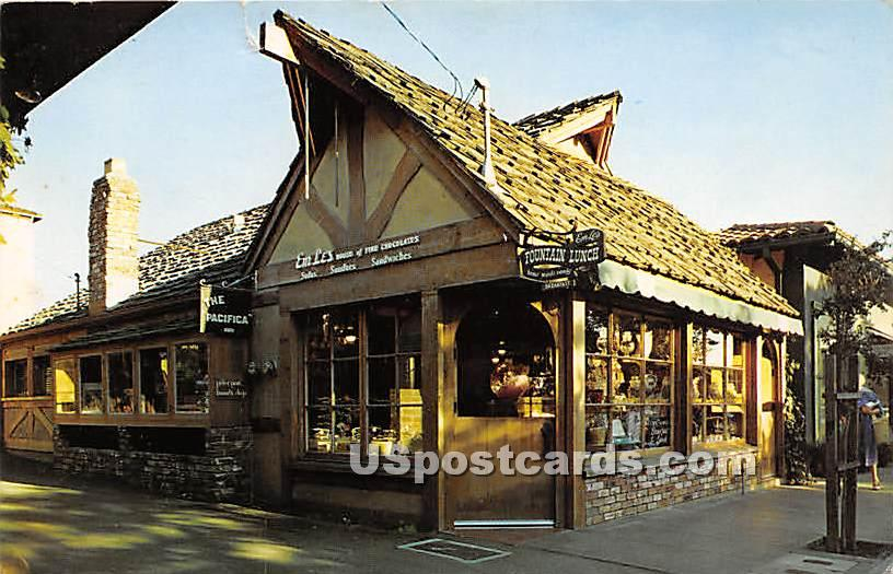 EmLe's House of Fine Chocolates - Carmel-by-the-Sea, California CA Postcard