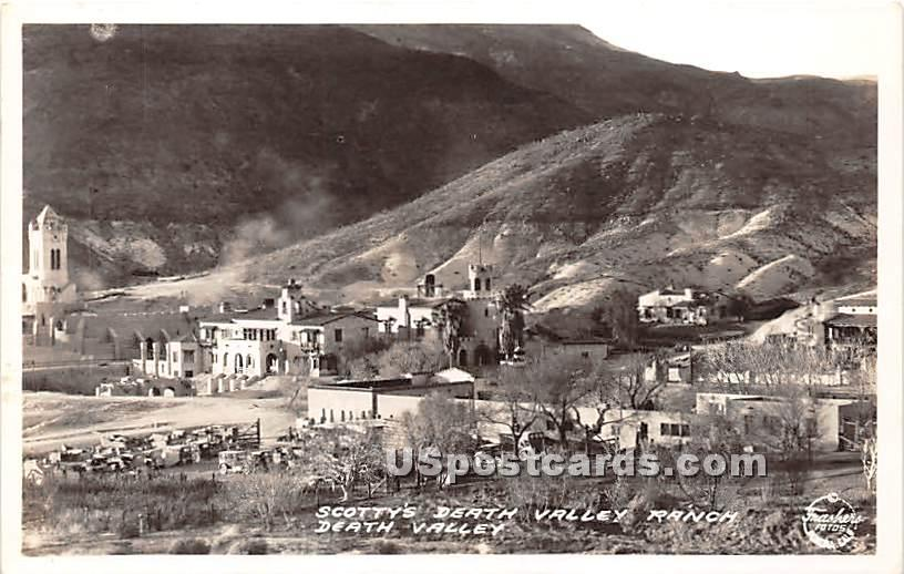 Real Photo - Scotty's Death Valley Ranch - California CA Postcard