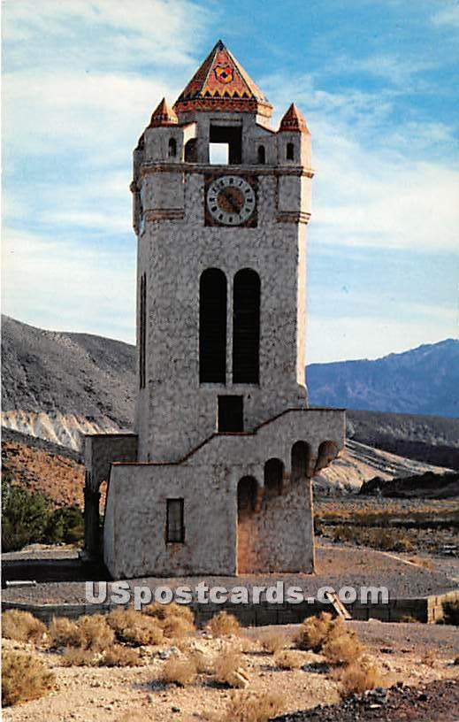 Clock Tower - Death Valley, California CA Postcard