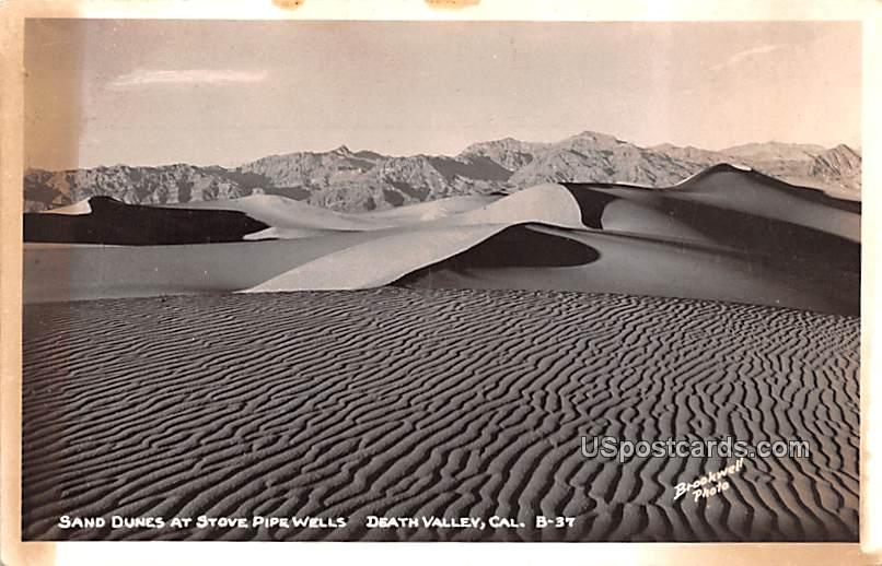 Sand Dunes at Stove Pipe Wells - Death Valley, California CA Postcard