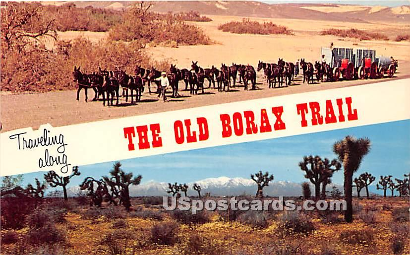 20 Mule Team Borax Trains - Death Valley, California CA Postcard